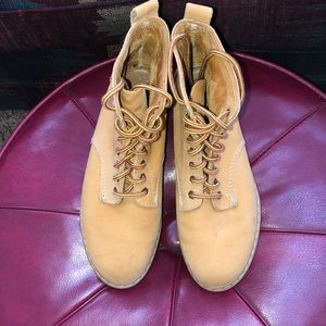 Vintage 90's Eastland 8 Eye Wheat Nubuck Boots